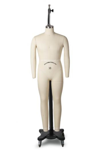 Professional Male Full Body Dress Form w/ Collapsible Shoulders and Legs