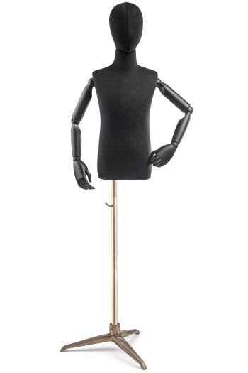 Child Display Dress Form on Metal Tripod Base (Head & Arms Version)