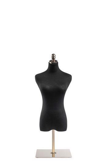 Female Display Dress Form on Metal Tabletop Base