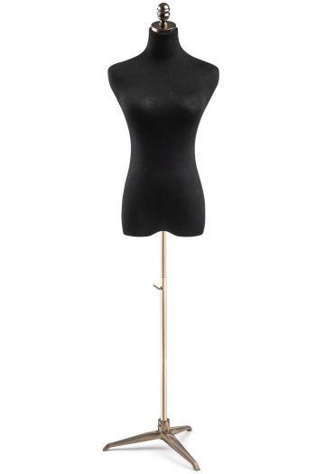 Female Display Dress Form on Metal Tripod Base