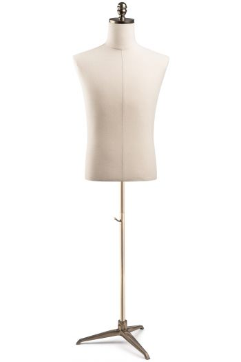Male Display Dress Form on Metal Tripod Base