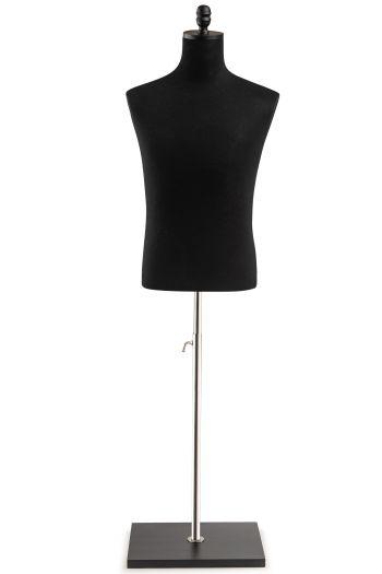 Male Display Dress Form on Wood Flat Base