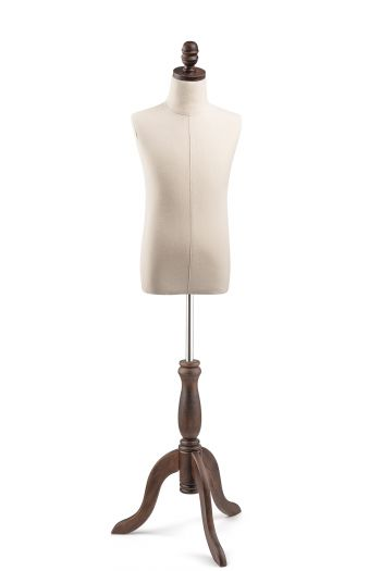Child Display Dress Form on Wood Tripod Base