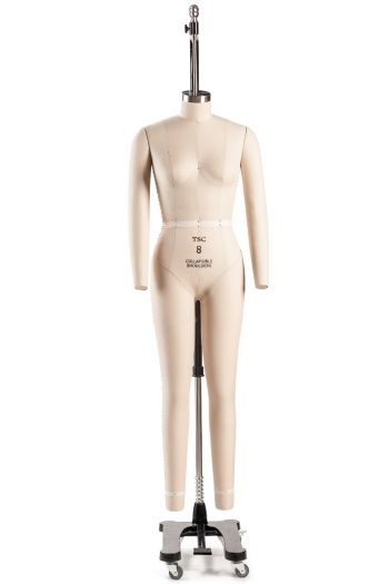 Professional Female Full Body Dress Form w/ Collapsible Shoulders and Removable Arms