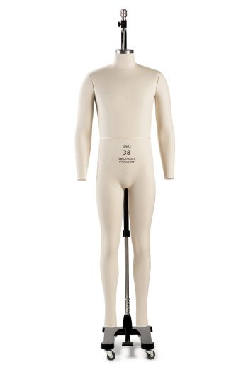 Professional Male Full Body Dress Form w/ Collapsible Shoulders and Removable Arms