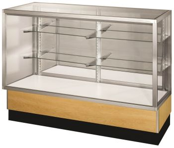 "Full Vision Glass Display Case / Showcase - 60"" Long"