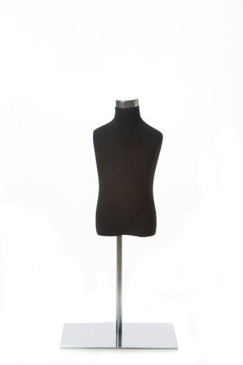 Black Child Dress form on Chrome Tabletop Base
