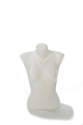 White Female Mannequin Armless Torso in Natural Pose