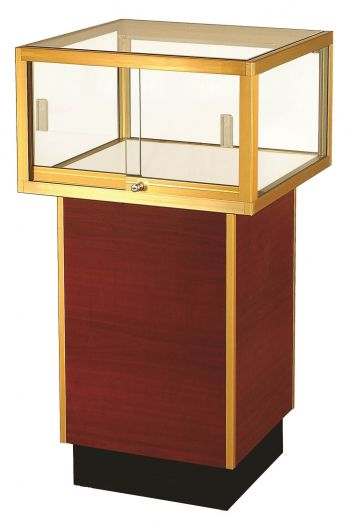 Clear Vision Square Pedestal Jewelry Glass Display Case / Showcase - 24""