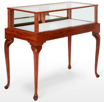 """Jewelry Showcase / Display Case - 36"""", 48"""", 60"""" or 72"""" long - Queen Anne Collection"""