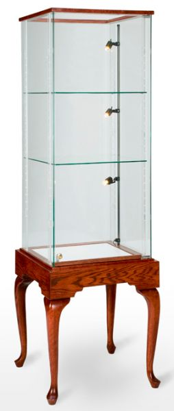 Square Trophy Tower Showcase / Display Case - Queen Anne Collection