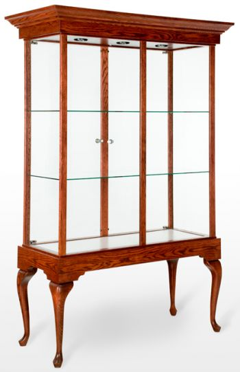 Rectangular Trophy Tower Showcase / Display Case - Queen Anne Collection