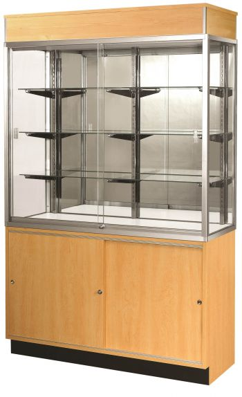 "Half Vision Wall Glass Display Case / Showcase - 70"" Length"