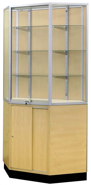 Half Vision Corner Glass Display Case / Showcase