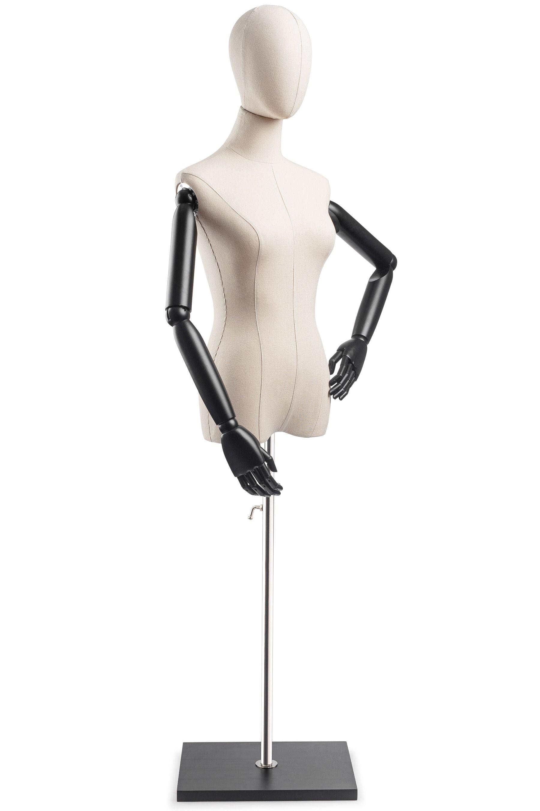 Black female half body mannequin torso Dress form,Counter top FT-7