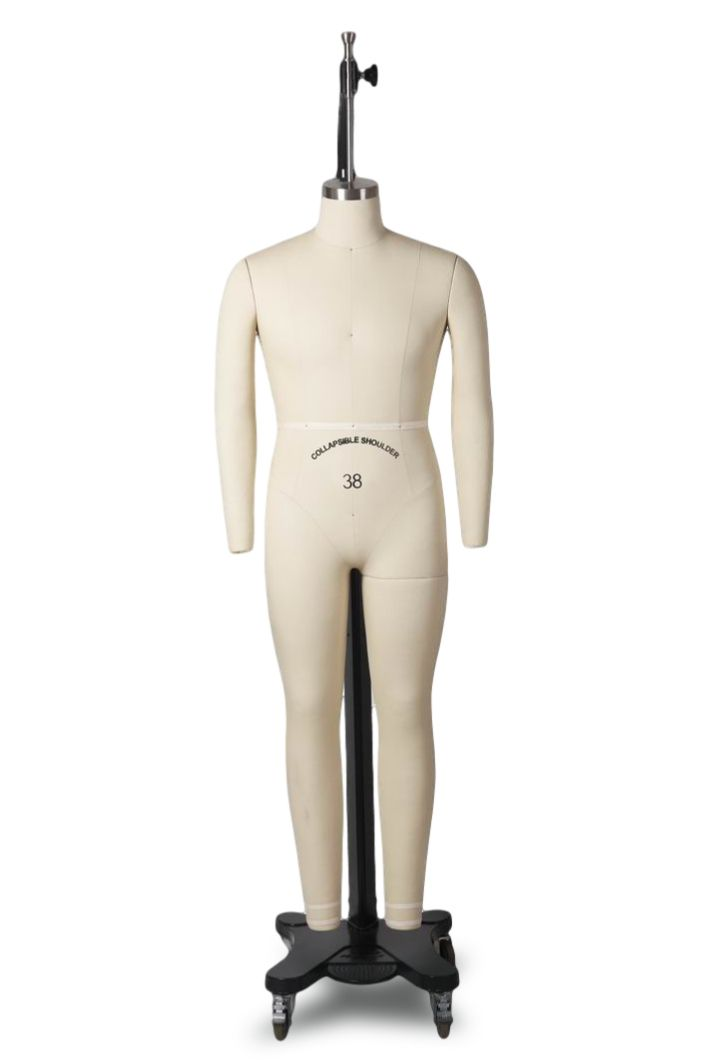 Made By OM EMT1 Male Table Top Torso Mannequin Form W//Abstract Egg Head Style and Adjustable Height Flesh