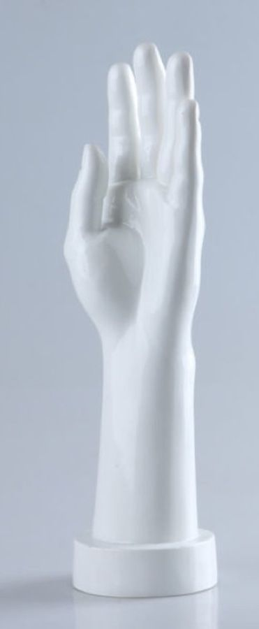 Female Left And Right White Gloss Mannequin Hand For Jewelry