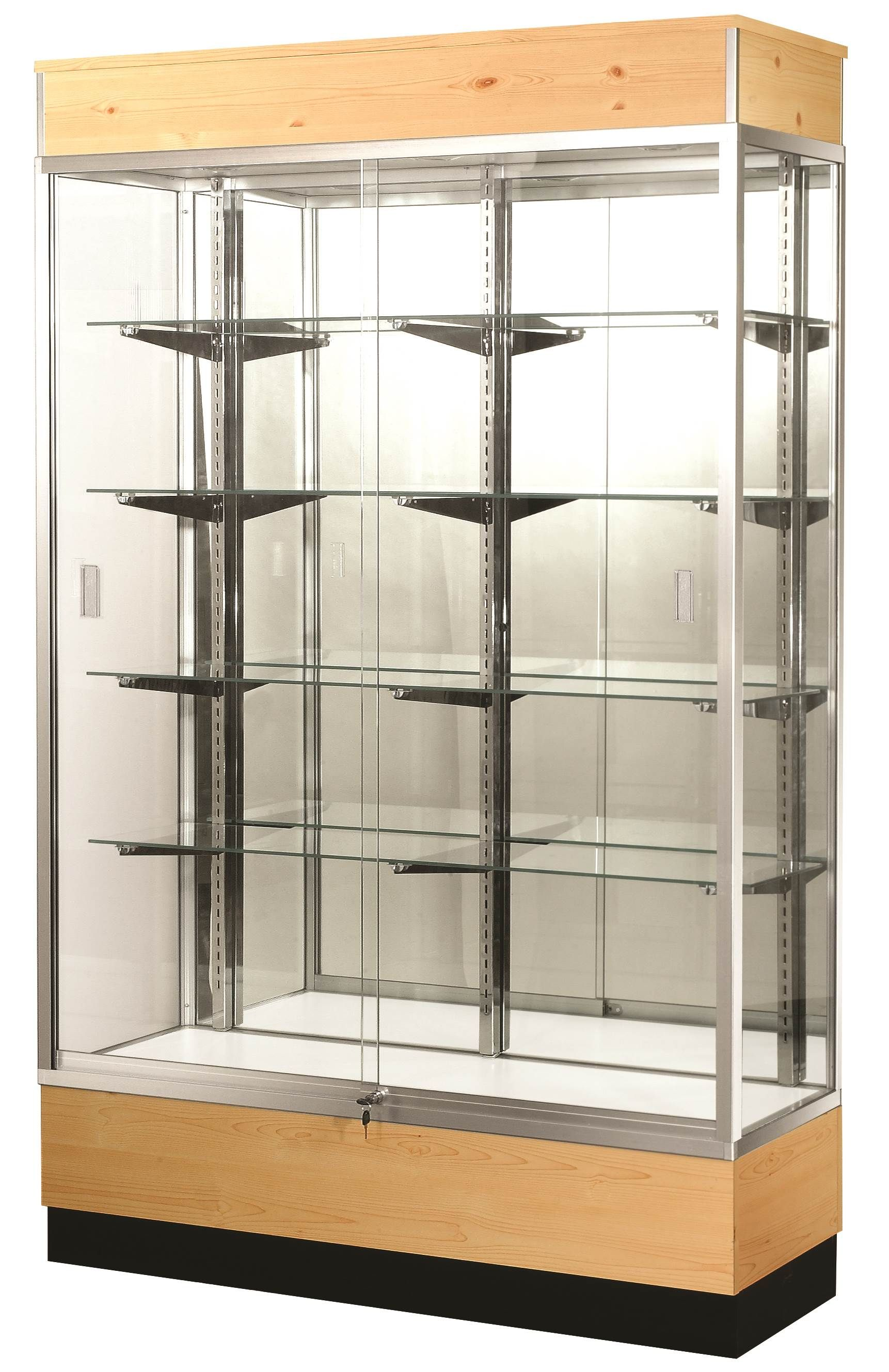 Glass Display Cabinet Showcases: Full Vision Wall Trophy Glass Display Case / Showcase
