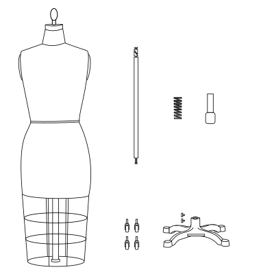 How to Assemble the Professional Dress Form with Bottom Cage Models