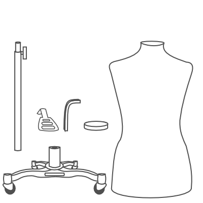 How To Assemble a Dress Form with the Metal Rolling Base