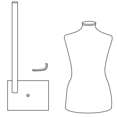 How To Assemble a Dress Form with the Metal Tabletop Base