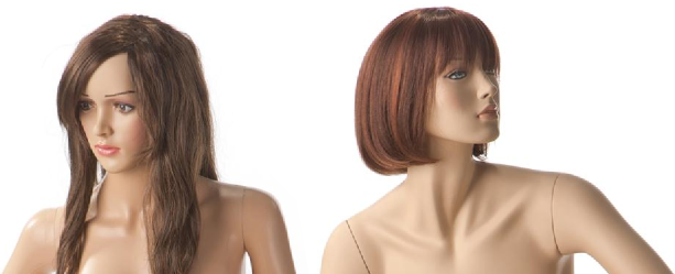 examples of female realistic mannequins, fiberglass and plastic