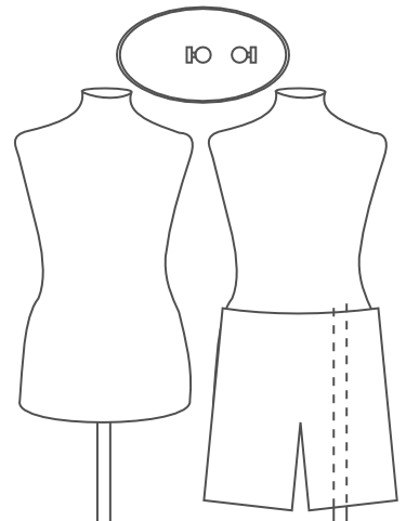 different mannequin dress form configurations