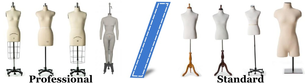 the difference between our professional dressmaking forms and our standard forms