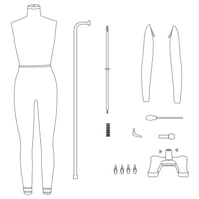 full body dressform mannequin assembly guide