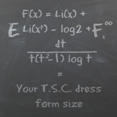 the TSC Dress Form Size Finder Software