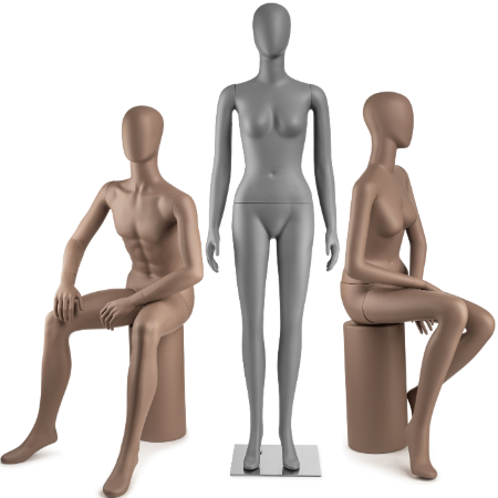 Male and Female Mannequin Full Body, Torsos and Parts