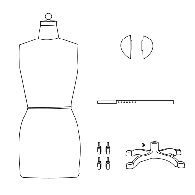 magnetic shoulders dressform mannequin assembly guide