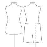 dual connectors for displaying trousers as well