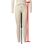 outseam measurements for a dress form