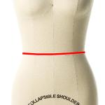waist measurements for a dress form