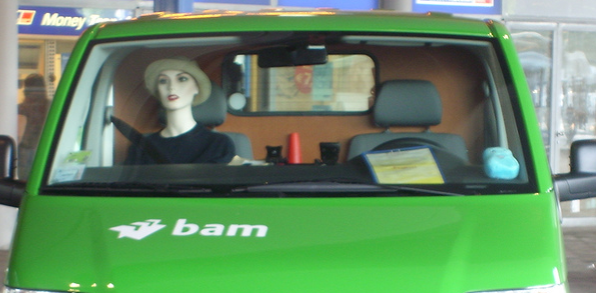 using a mannequin to cheat the HOV lane requirements
