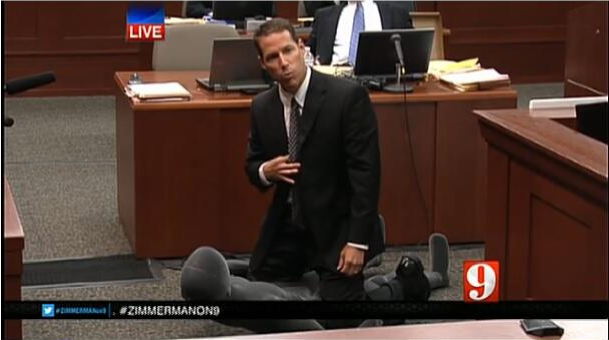 zimmerman lawyers using mannequin as key witness