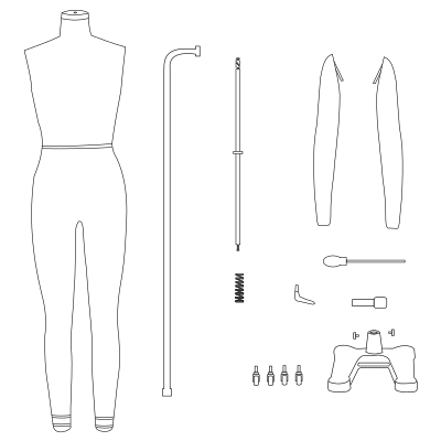 full body dressform mannequin assembly guide