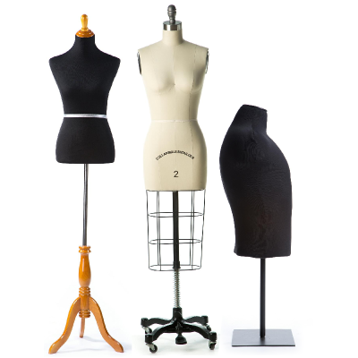 a random assortment of dress forms, standard and professional