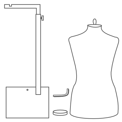 assembly instructions for our metal hanging dressform base