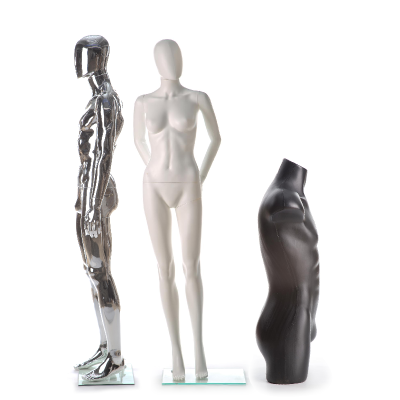 several mannequins for our Mannequin Guide