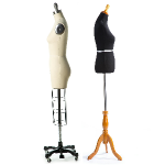 two dressforms: standard body form and professional