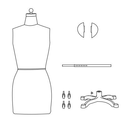 magnetic shoulders dressform mannequin assembly guide