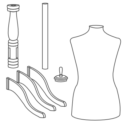 assembly instructions for our wooden tripod dressform base