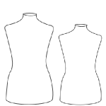 many different sizes for the female dress form
