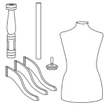 the full woman's dress form package